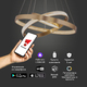 Фото №9 Светодиодная люстра с управлением по Wi-Fi 90276/3 медный