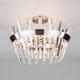 Фото №2 Потолочная люстра с хрусталем 10111/5 сатин-никель/прозрачный хрусталь Strotskis
