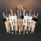 Фото №3 Потолочная люстра с хрусталем 10111/5 сатин-никель/прозрачный хрусталь Strotskis