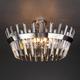 Фото №3 Потолочный светильник с хрусталем 10111/8 сатин-никель / прозрачный хрусталь Strotskis