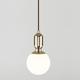 Фото №2 Подвесной светильник со стеклянным плафоном 50151/1 золото