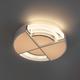 Фото №5 Потолочный светодиодный светильник с пультом управления 90181/1 белый/серебро