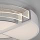 Фото №6 Потолочный светодиодный светильник с пультом управления 90181/1 белый/серебро