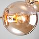 Фото №4 Потолочная люстра со стеклянными плафонами 30166/6 золото