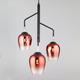 Фото №2 Подвесной светильник со стеклянными плафонами 50086/3 медь