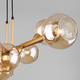 Фото №3 Подвесной светильник с круглыми стеклянными плафонами 70113/8 янтарный