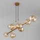 Фото №4 Подвесной светильник с круглыми стеклянными плафонами 70113/8 янтарный