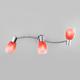 Фото №3 Настенный светильник с поворотными плафонами 20119/3 красный