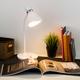 Фото №3 Настольный светильник с выключателем 01077/1 белый