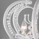 Фото №4 Подвесная люстра с хрусталем 10107/8 глянцевый белый/прозрачный хрусталь Strotskis