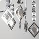Фото №5 Хромированная люстра с хрусталем 10110/8 хром/дымчатый хрусталь Strotskis