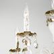Фото №4 Классическая хрустальная люстра 10104/5 белый с золотом/тонированный хрусталь Strotskis