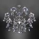 Фото №4 Классическая подвесная люстра с хрусталем 10109/8 хром/лазурный хрусталь Strotskis