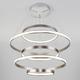 Фото №5 Подвесной светодиодный светильник с пультом управления 90179/5 сатин-никель