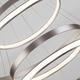 Фото №7 Подвесной светодиодный светильник с пультом управления 90179/5 сатин-никель
