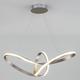 Фото №2 Подвесной светодиодный светильник 90174/1 сатин-никель