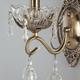 Фото №4 Классическое бра с хрусталем 10103/1 античная бронза/прозрачный хрусталь Strotskis