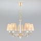 Фото №2 Классическая люстра с абажурами 60103/5 перламутровое золото