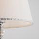Фото №4 Настольная лампа с абажуром 01071/1 хром