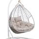 Фото №4 Подвесное двухместное кресло-кокон FISHT белое + каркас
