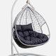 Фото №3 Подвесное двухместное кресло-кокон FISHT белое + каркас