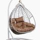 Фото №8 Подвесное двухместное кресло-кокон FISHT белое + каркас