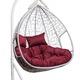 Фото №2 Подвесное двухместное кресло-кокон FISHT белое + каркас