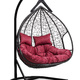 Фото №4 Подвесное двухместное кресло-кокон FISHT черное + каркас