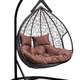 Фото №3 Подвесное двухместное кресло-кокон FISHT черное + каркас