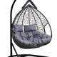Фото №7 Подвесное двухместное кресло-кокон FISHT черное + каркас