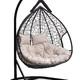 Фото №2 Подвесное двухместное кресло-кокон FISHT черное + каркас