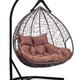 Фото №5 Подвесное двухместное кресло-кокон FISHT коричневое + каркас