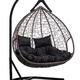 Фото №7 Подвесное двухместное кресло-кокон FISHT коричневое + каркас