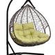 Фото №6 Подвесное двухместное кресло-кокон FISHT коричневое + каркас