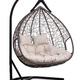 Фото №8 Подвесное двухместное кресло-кокон FISHT коричневое + каркас