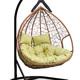 Фото №2 Подвесное  двухместное кресло-кокон FISHT горячий шоколад + каркас