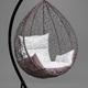 Фото №2 Подвесное кресло-кокон SEVILLA ELEGANT коричневое + каркас