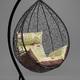 Фото №7 Подвесное кресло-кокон SEVILLA ELEGANT черное + каркас