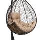 Фото №2 Подвесное кресло-кокон SEVILLA COMFORT коричневое + каркас