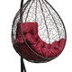 Фото №6 Подвесное кресло-кокон SEVILLA COMFORT коричневое + каркас