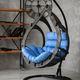 Фото №3 Подвесное кресло-кокон SEMERA цвет Эбеновое дерево