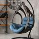 Фото №4 Подвесное кресло-кокон SEMERA цвет Эбеновое дерево