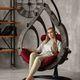 Фото №6 Подвесное кресло-кокон SEMERA цвет Эбеновое дерево