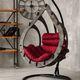 Фото №5 Подвесное кресло-кокон SEMERA цвет Эбеновое дерево