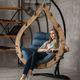 Фото №5 Подвесное кресло-кокон SEMERA цвет Орех